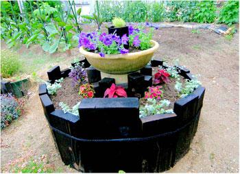 丸い花壇花壇