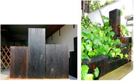 加藤さんの焼木ブロック